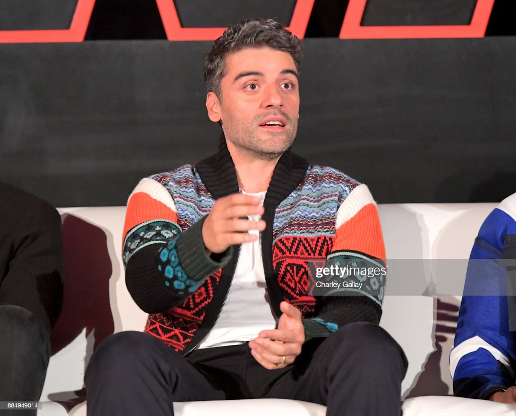 Actor Oscar Isaac attends the press conference for the highly anticipated Star Wars: The Last Jedi at InterContinental Los Angeles on December 3, 2017 in Los Angeles, California.