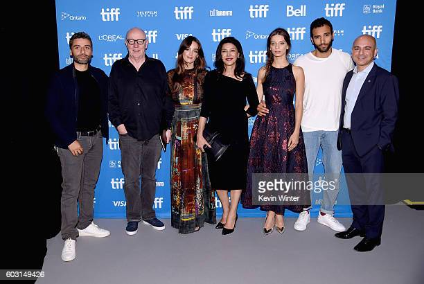 Actor Oscar Isaac director Terry George actors Charlotte Le Bon Shohreh Aghdashloo Angela Sarafyan Marwan Kenzari and producer Eric Esrailian attend...