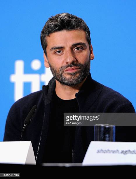Actor Oscar Isaac speaks onstage at The Promise press conference during 2016 Toronto International Film Festival at TIFF Bell Lightbox on September...