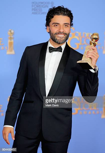 Actor Oscar Isaac winner of Best Performance by an Actor in a Limited Series or a Motion Picture Made for Television poses in the press room during...