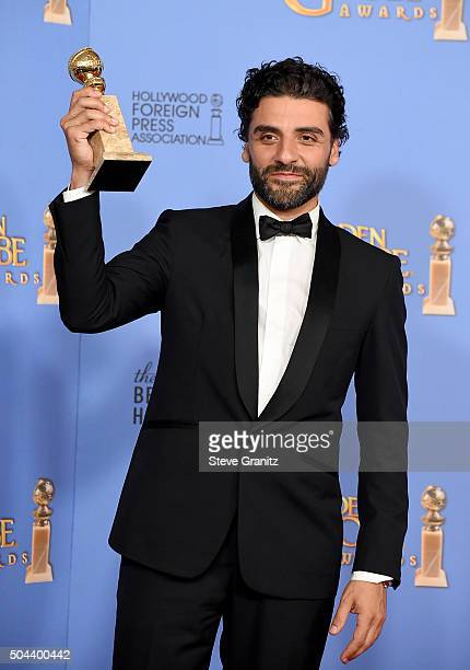 """Actor Oscar Isaac, winner of the award for Best Performance by an Actor in a Limited Series or a Motion Picture Made for Television for """"Show Me a..."""