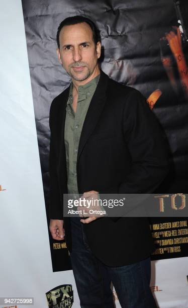 Actor Oscar Torre arrives for the Los Angeles Premiere of 'Miles To Go' held at Writers Guild Theater on April 5 2018 in Beverly Hills California