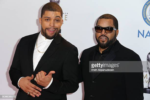 Actor O'Shea Jackson and hiphop artist Ice Cube attend the 47th NAACP Image Awards presented by TV One at Pasadena Civic Auditorium on February 5...