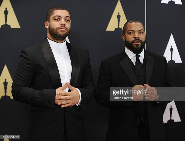 Actor O'Shea Jackson Jr and actor/ rapper Ice Cube attend the 7th annual Governors Awards at The Ray Dolby Ballroom at Hollywood Highland Center on...