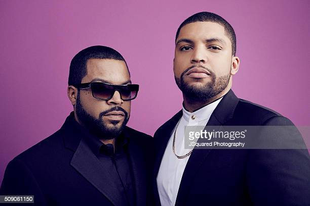 Actor O'Shea Jackson Jr and father Ice Cube pose for a portrait during the 47th NAACP Image Awards presented by TV One at Pasadena Civic Auditorium...