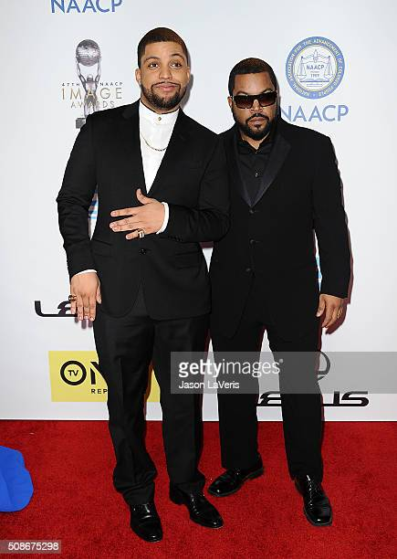 Actor O'Shea Jackson Jr and Ice Cube attend the 47th NAACP Image Awards at Pasadena Civic Auditorium on February 5 2016 in Pasadena California