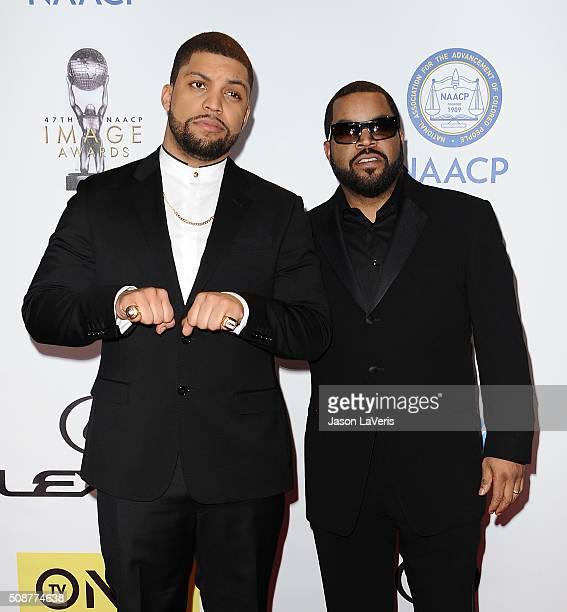Actor O'Shea Jackson Jr. And Ice Cube attend the 47th NAACP Image Awards at Pasadena Civic Auditorium on February 5, 2016 in Pasadena, California.