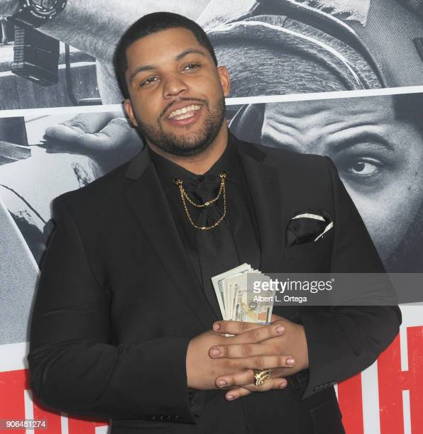 Actor O'Shea Jackson Jr arrives for the Premiere Of STX Films' 'Den Of Thieves' held at Regal LA Live Stadium 14 on January 17 2018 in Los Angeles...