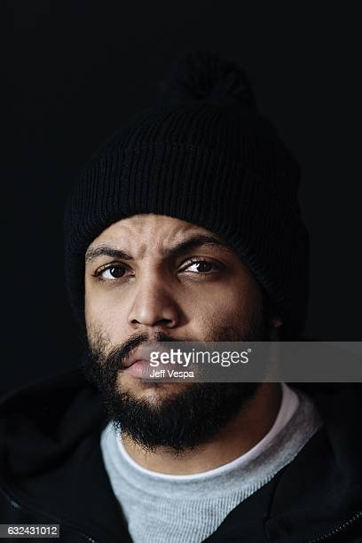 Actor O'Shea Jackson Jr from the film Ingrid Goes West poses for a portrait in the WireImage Portrait Studio presented by DIRECTV on January 21 2017...