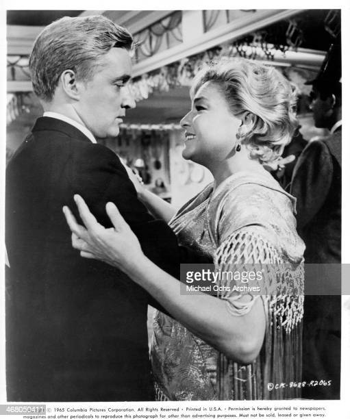 Actor Oskar Werner and actress Simone Signoret on set of the movie Ship of Fools circa 1965