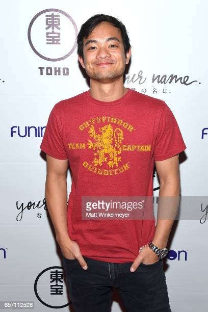 Actor Osric Chau attends Funimation Films presents 'Your Name' Theatrical Premiere in Los Angeles CA at Yamashiro Hollywood on March 23 2017 in Los...