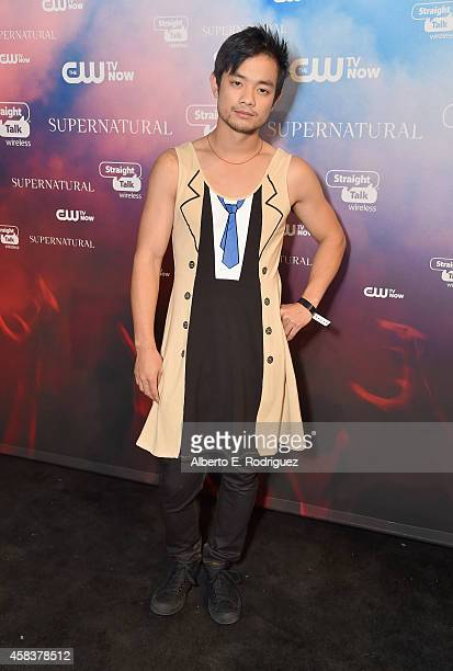 Actor Osric Chau attends the CW's Fan Party to Celebrate the 200th episode of 'Supernatural' on November 3 2014 in Los Angeles California