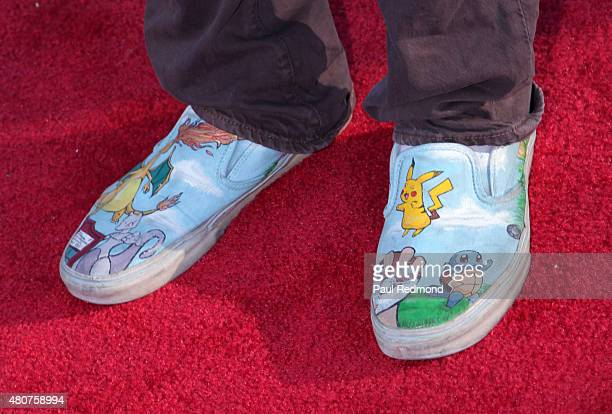 Actor Osric Chau shoe detail attends the screening of Mance Media's 'The Young Kieslowski' at the Vista Theatre on July 14 2015 in Los Angeles...