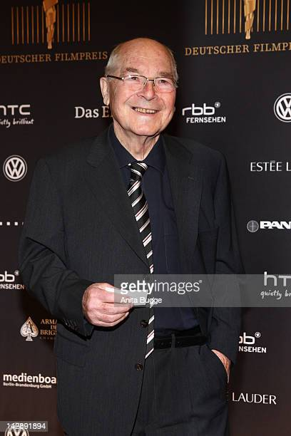 """Actor Otto Mellies attends the nominees reception of the """"Deutscher Filmpreis"""" award on April 14, 2012 in Berlin, Germany."""