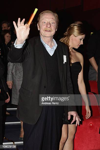 Actor Otto Sander attends the 'Hinterm Horizont' musical premiere at Theater am Potsdamer Platz on January 13 2011 in Berlin Germany