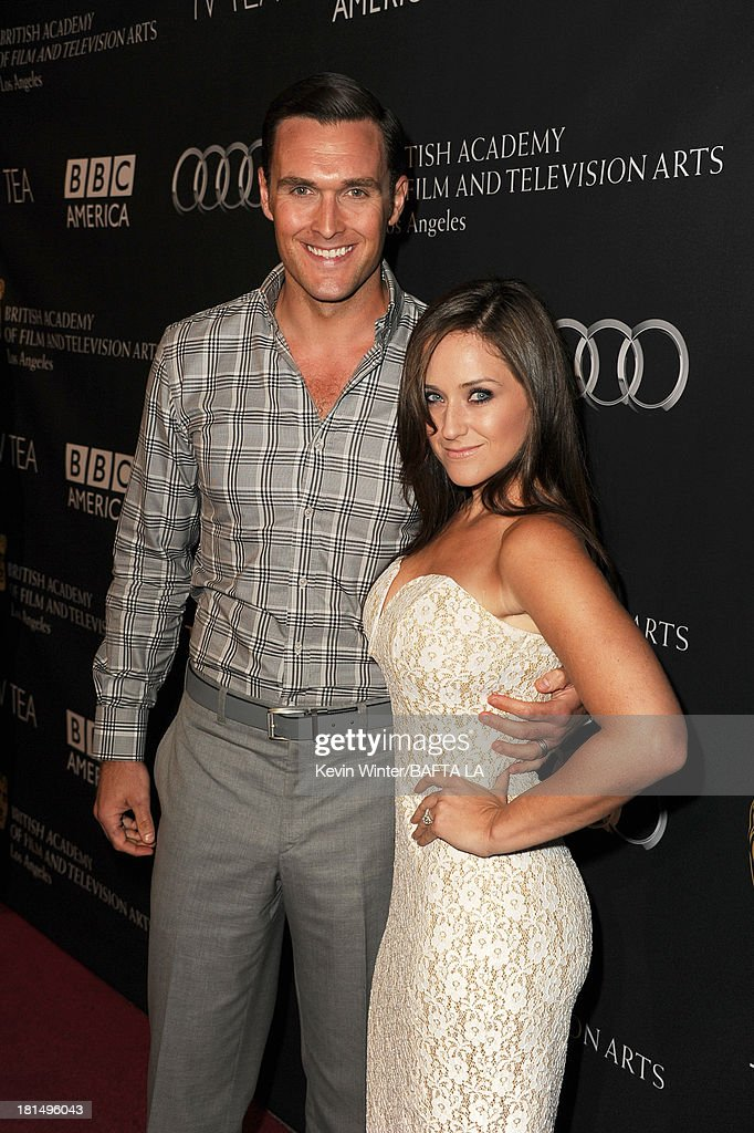 Actor Owain Yeoman and wife, Gigi Yallouz attend the BAFTA LA TV Tea 2013 presented by BBC America and Audi held at the SLS Hotel on September 21, 2013 in Beverly Hills, California.