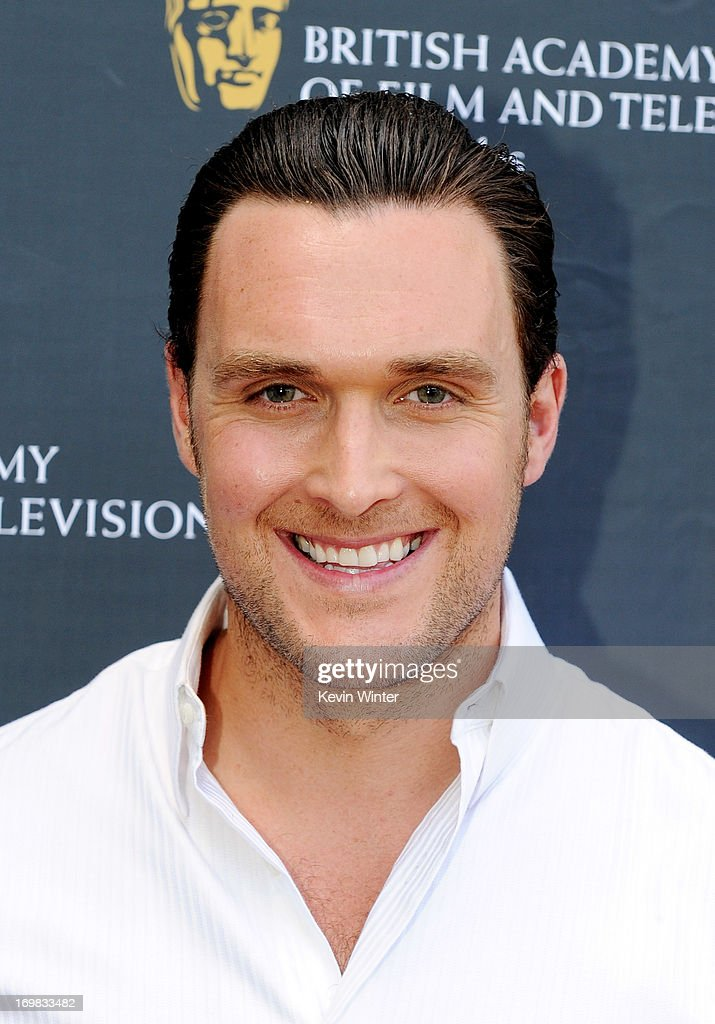 Actor Owain Yeoman arrives at the 26th Annual BAFTA LA Garden Party at the British Consul-General's official residence on June 2, 2013 in Los Angeles, California.
