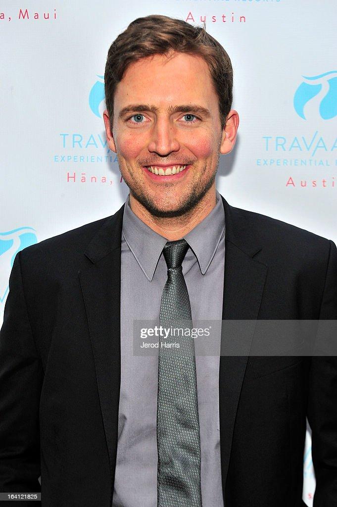 Actor Owen Benjamin attends Travaasa Resorts official LA experience event at Kinara Spa on March 19, 2013 in Los Angeles, California.