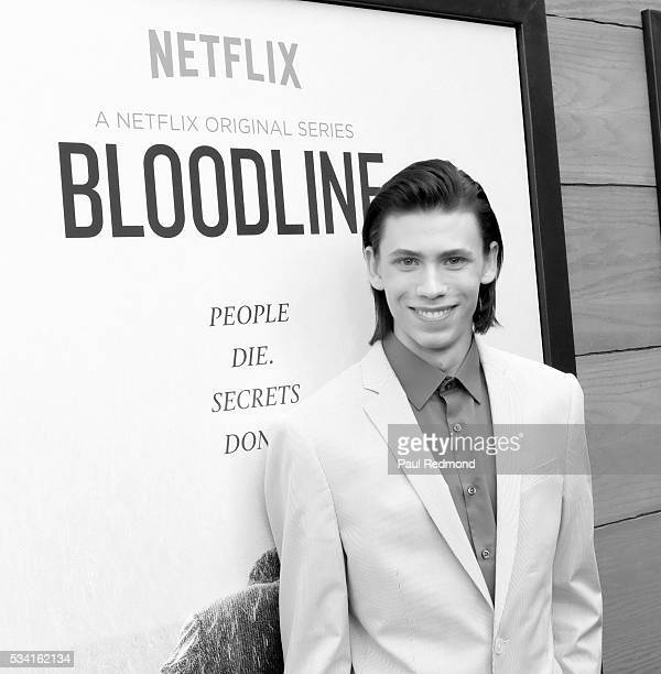 Actor Owen Teague attends the Premiere Of Netflix's Bloodline at Landmark Regent on May 24 2016 in Los Angeles California