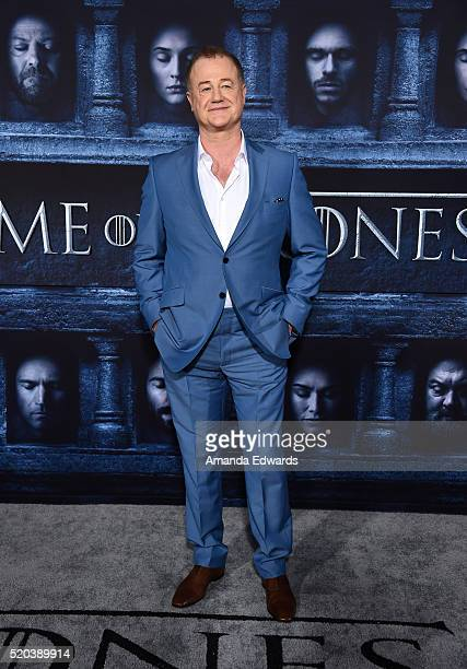 Actor Owen Teale arrives at the premiere of HBO's 'Game Of Thrones' Season 6 at the TCL Chinese Theatre on April 10 2016 in Hollywood California