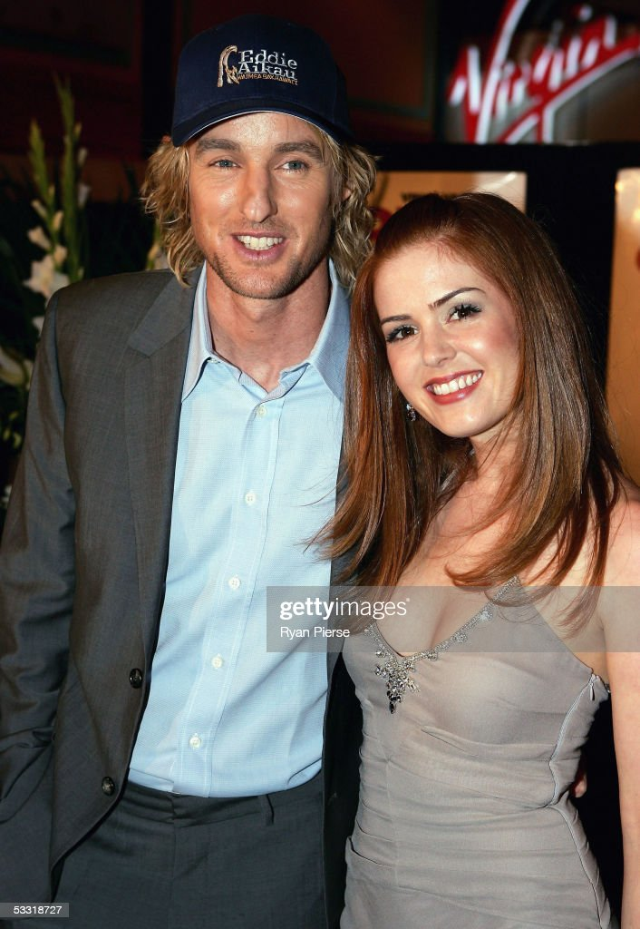 Actor Owen Wilson L And Actress Isla Fisher R Arrive At The