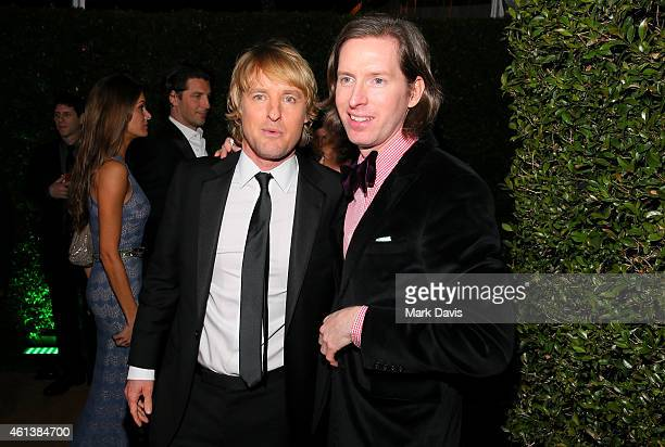 Actor Owen Wilson and director Wes Anderson attend The 72nd Annual Golden Globe Awards at The Beverly Hilton on January 11 2015 in Beverly Hills...