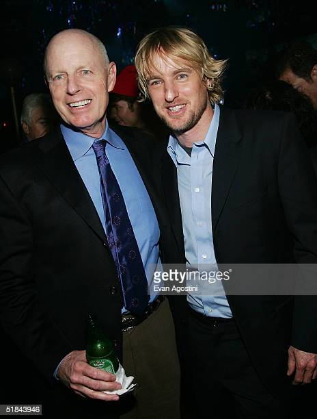 "Actor Owen Wilson and his father Robert Wilson attend ""The Life Aquatic With Steve Zissou"" premiere after party at Roseland Ballroom December 9, 2004..."