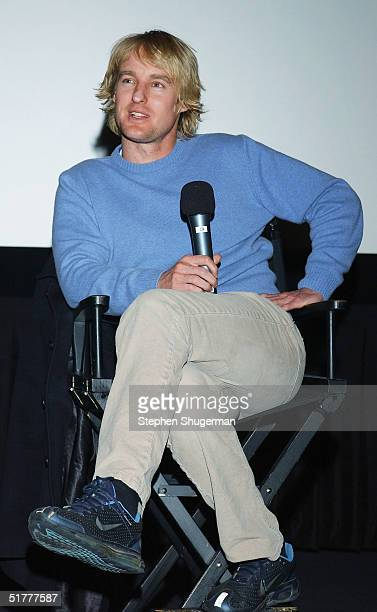 "Actor Owen Wilson answers questions from the audience during the Q & A following the Variety Screening Series - ""The Life Aquatic with Steve Zissou""..."