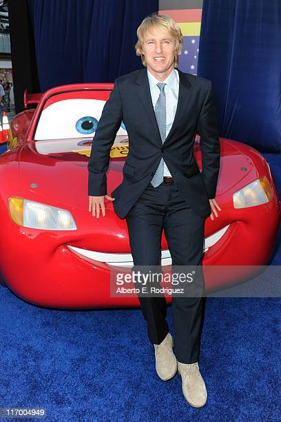 Actor Owen Wilson arrives at the premiere of Cars 2 presented by Walt Disney Pictures at the El Capitan Theatre on June 18 2011 in Los Angeles...