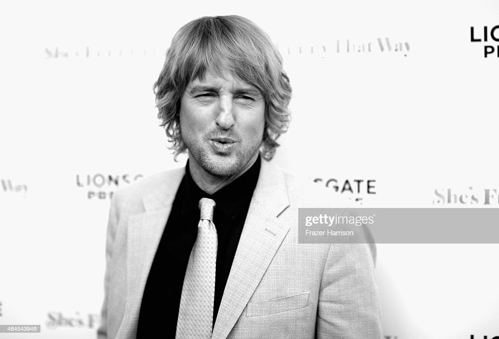 .Actor Owen Wilson arrives at the Premiere Of Lionsgate Premiere's 'She's Funny That Way' at Harmony Gold on August 19, 2015 in Los Angeles, California.