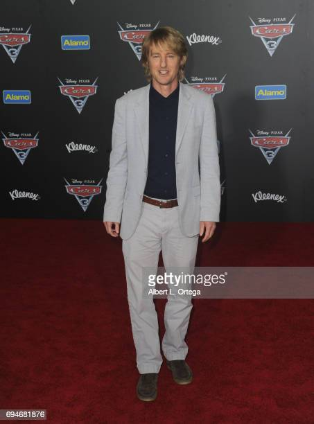 Actor Owen Wilson arrives for the Premiere Of Disney And Pixar's 'Cars 3' held at Anaheim Convention Center on June 10 2017 in Anaheim California
