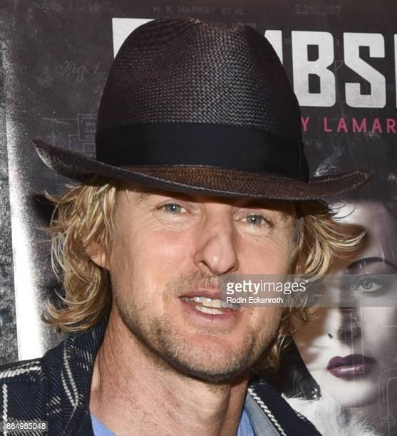 Actor Owen Wilson attends the Bombshell The Hedy Lamarr Story Los Angeles premiere at AMC DineIn Sunset 5 on December 3 2017 in Los Angeles California