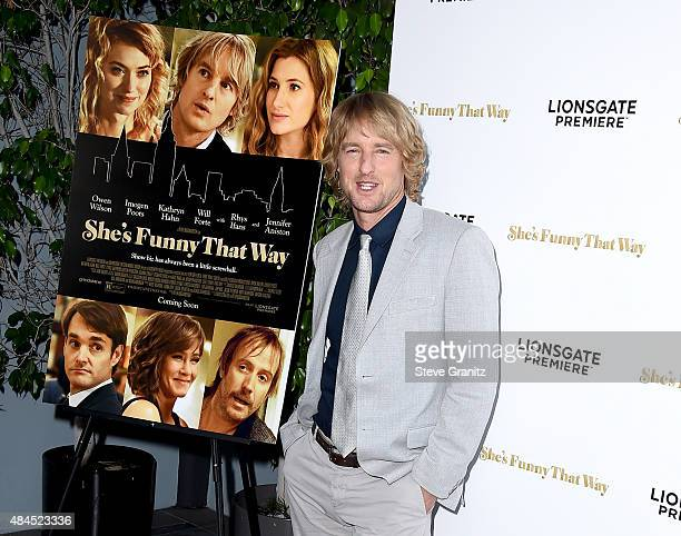 Actor Owen Wilson attends the premiere of Lionsgate Premiere's She's Funny That Way at Harmony Gold on August 19 2015 in Los Angeles California