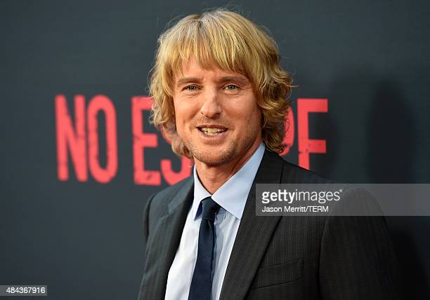 Actor Owen Wilson attends the premiere of the Weinstein Company's No Escape at Regal Cinemas LA Live on August 17 2015 in Los Angeles California