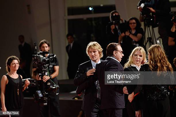 Actor Owen Wilson director Peter Bogdanovich screenplay Louise Stratten actress Kathryn Hahn attend 'She's Funny That Way' Premiere during the 71st...