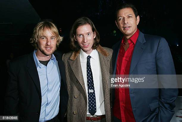 "Actor Owen Wilson, director Wes Anderson and actor Jeff Goldblum attend ""The Life Aquatic With Steve Zissou"" premiere after party at Roseland..."