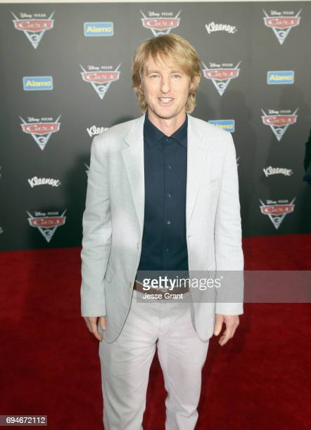 "Actor Owen Wilson poses at the World Premiere of Disney/Pixar's ""Cars 3 at the Anaheim Convention Center on June 10 2017 in Anaheim California"