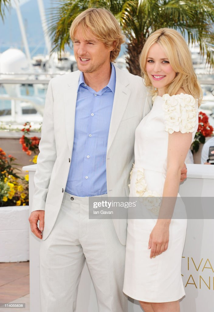 Actor Owen Wilson with actress Rachel McAdams attend the 'Midnight In Paris' photocall at the Palais des Festivals during the 64th Cannes Film Festival on May 11, 2011 in Cannes, France.
