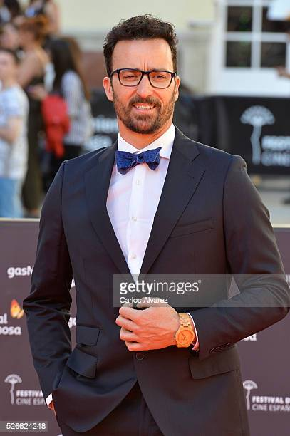 Actor Pablo Pujol attends Nuestros Amantes premiere at the Cervantes Teather during the 19th Malaga Film Festival on April 30 2016 in Malaga Spain