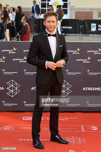 Actor Pablo Rivero attends Nuestros Amantes premiere at the Cervantes Teather during the 19th Malaga Film Festival on April 30 2016 in Malaga Spain