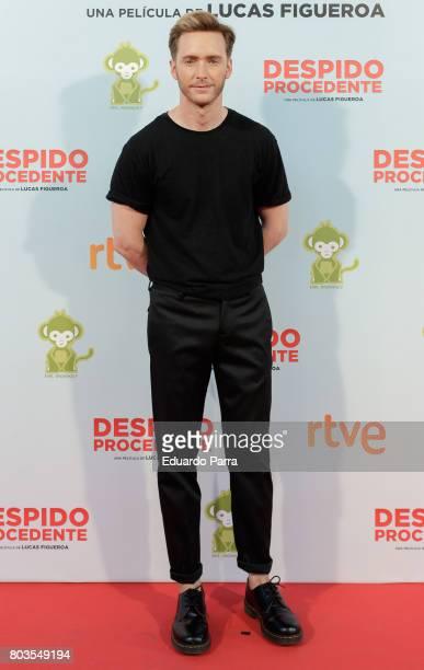 Actor Pablo Rivero attends the 'Despido procedente' photocall at Callao cinema on June 29 2017 in Madrid Spain
