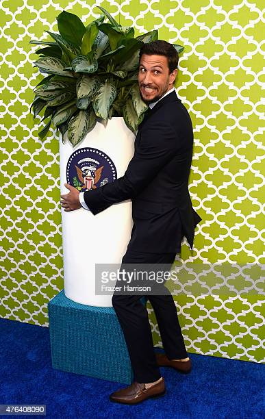 Actor Pablo Schreiber arrives at the Premiere Of HBO's The Brink at Paramount Studios on June 8 2015 in Hollywood California