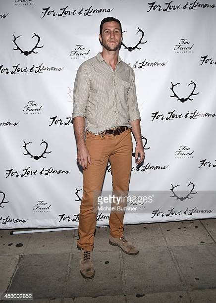 Actor Pablo Schreiber attends For Love and Lemons annual SKIVVIES party cohosted by Too Faced and performance by The Shoe at The Carondelet House on...
