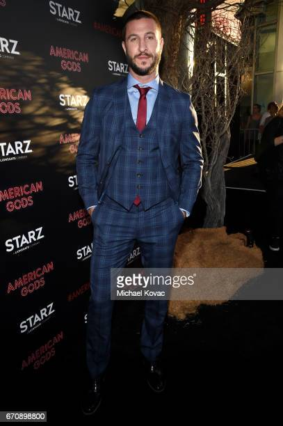 Actor Pablo Schreiber attends the American Gods premiere at ArcLight Hollywood on April 20 2017 in Los Angeles California