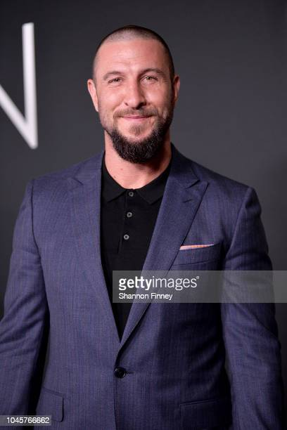 Actor Pablo Schreiber attends the First Man premiere at the National Air and Space Museum on October 4 2018 in Washington DC