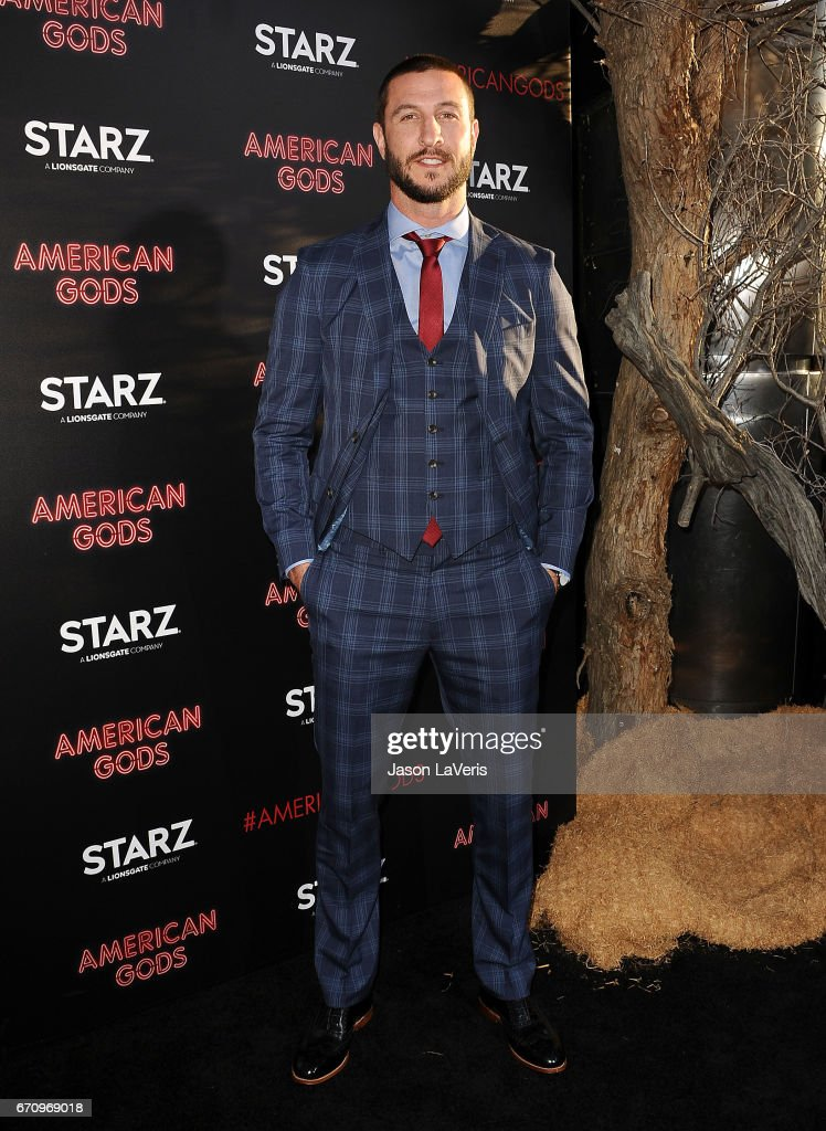 Actor Pablo Schreiber attends the premiere of 'American Gods' at ArcLight Cinemas Cinerama Dome on April 20, 2017 in Hollywood, California.