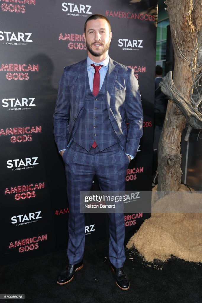 Actor Pablo Schreiber attends the premiere of Starz's 'American Gods' at the ArcLight Cinemas Cinerama Dome on April 20, 2017 in Hollywood, California.