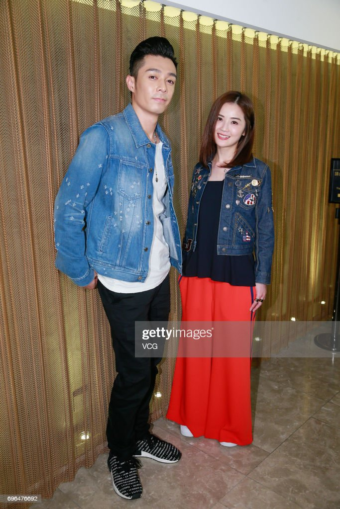 Actor Pakho Chau and actress Charlene Choi attend an event of film '77 Heartbreaks' to thank fans for their support on June 15, 2017 in Hong Kong, China.
