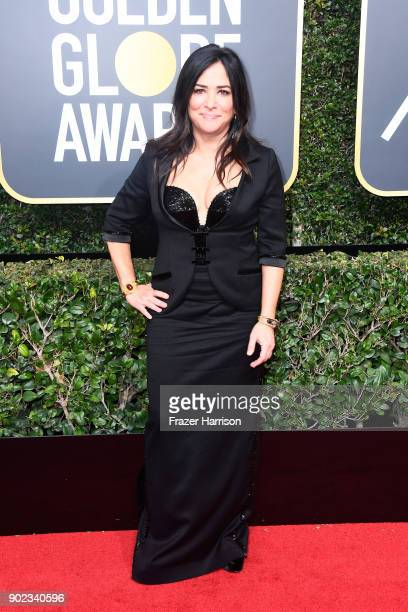 Actor Pamela Adlon attends The 75th Annual Golden Globe Awards at The Beverly Hilton Hotel on January 7 2018 in Beverly Hills California