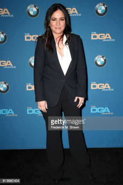 Actor Pamela Adlon poses in the press room during the 70th Annual Directors Guild Of America Awards at The Beverly Hilton Hotel on February 3 2018 in...